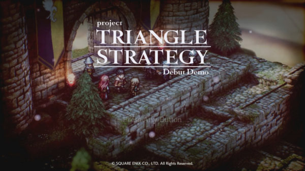 Project TRIANGLE STRATEGYの体験版を遊んでみた